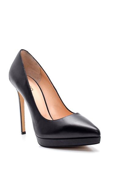 Siyah Kadın Deri Stiletto 5638297891
