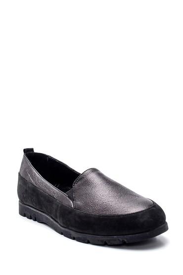 Siyah Kadın Deri Ayakkabı 5638306093