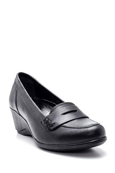 Siyah Kadın Deri Ayakkabı 5638306131