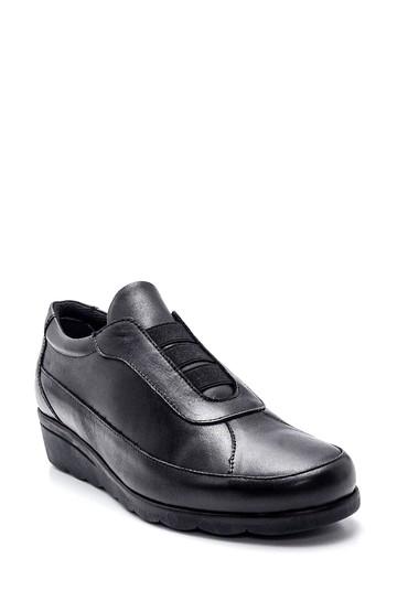 Siyah Kadın Deri Ayakkabı 5638306141