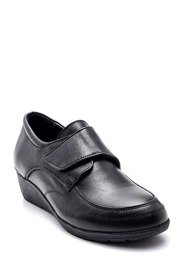 Siyah Kadın Deri Ayakkabı 5638306151
