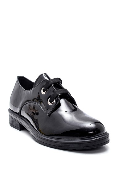 Siyah Kadın Deri Rugan Ayakkabı 5638306161