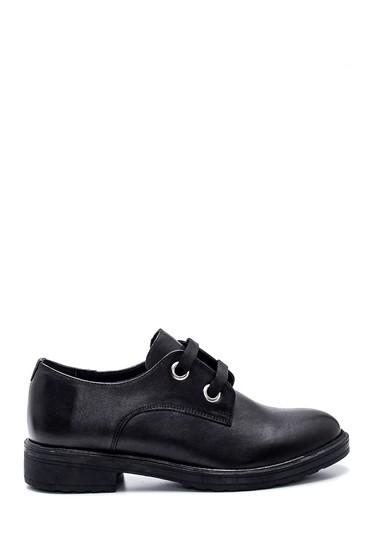 Siyah Kadın Deri Ayakkabı 5638306171