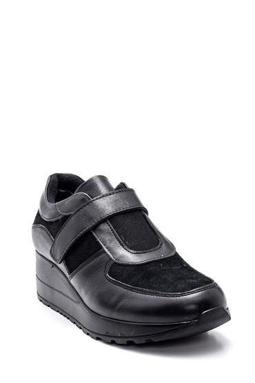 Siyah Kadın Deri Ayakkabı 5638306181