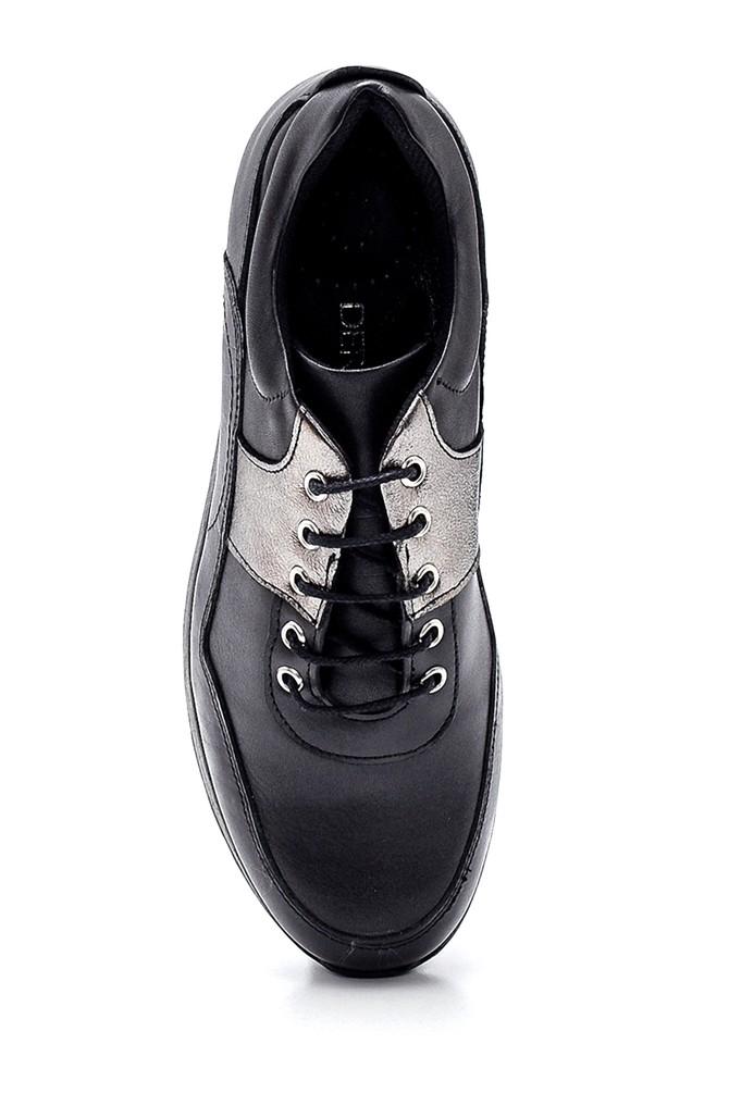 5638306191 Kadın Dolgu Topuk Deri Sneaker