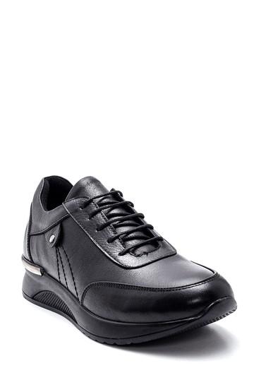 Siyah Kadın Deri Sneaker 5638306201