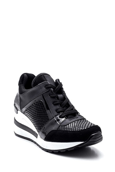 Siyah Kadın Dolgu Topuk Sneaker 5638325837