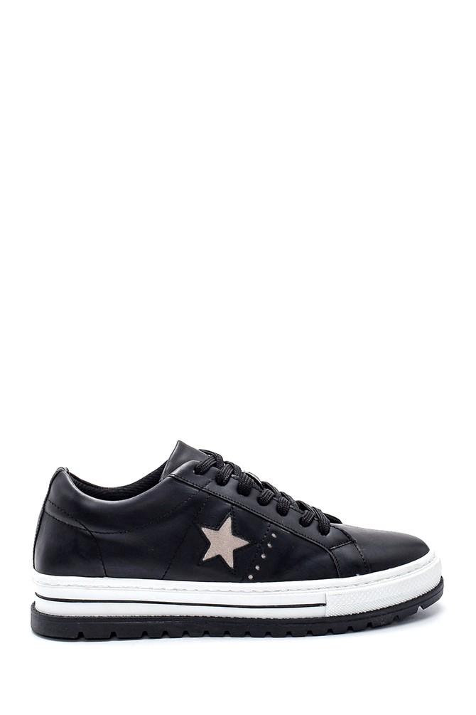 Siyah Kadın Yıldız Detaylı Sneaker 5638328214