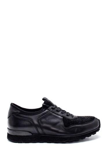Siyah Erkek Deri Sneaker 5638331935