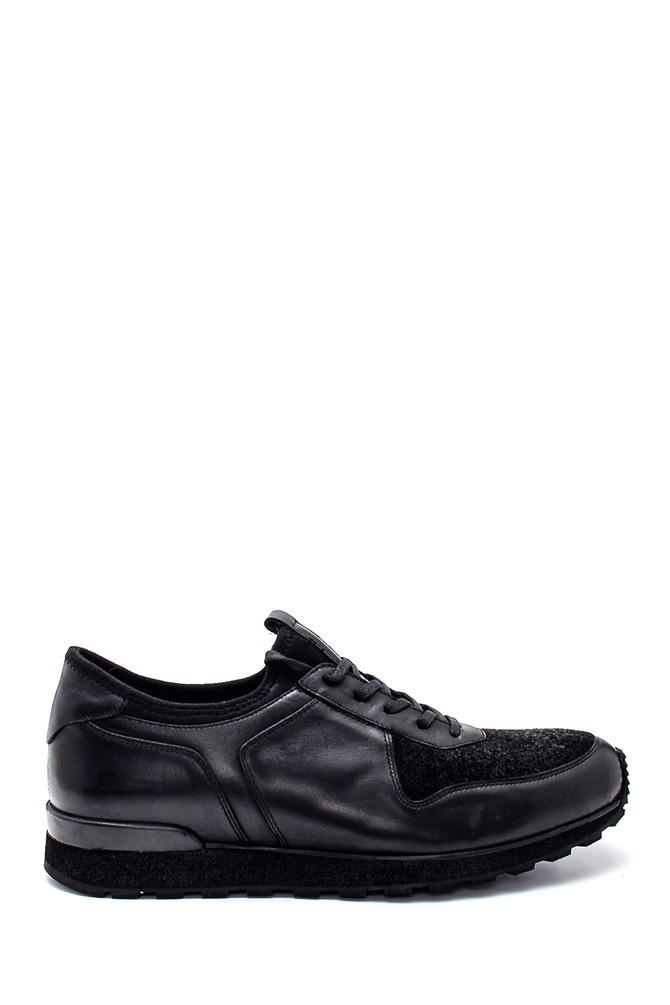 Siyah Erkek Deri Sneaker 5638331945