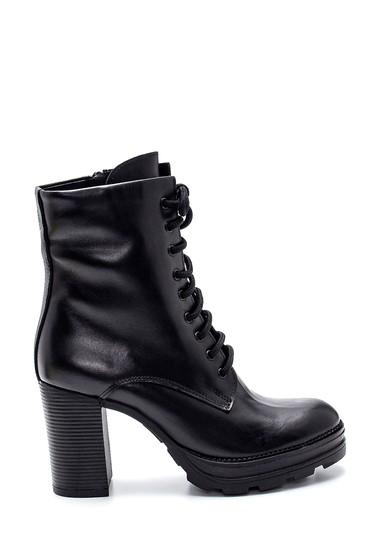 Siyah Kadın Deri Topuklu Bot 5638292127