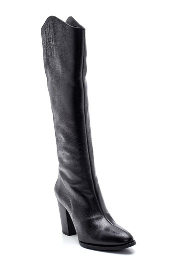 Siyah Kadın Deri Topuklu Çizme 5638316312