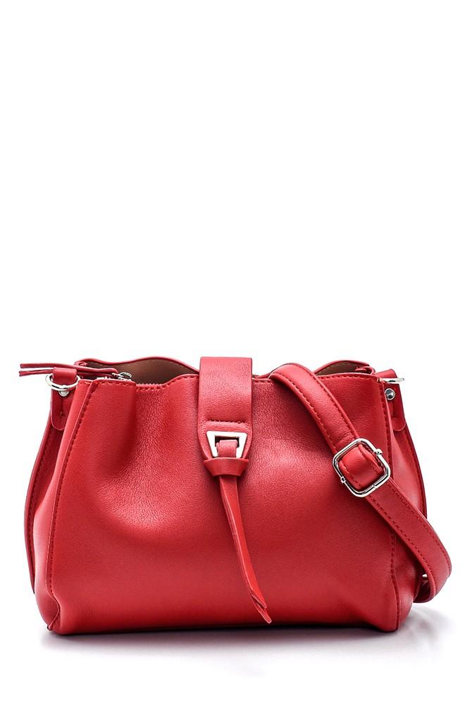 Kırmızı Kadın Klasik Omuz Çantası 5638271496