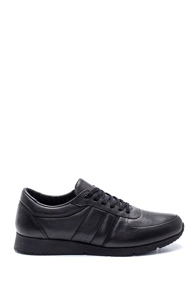 Siyah Erkek Deri Sneaker 5638309798