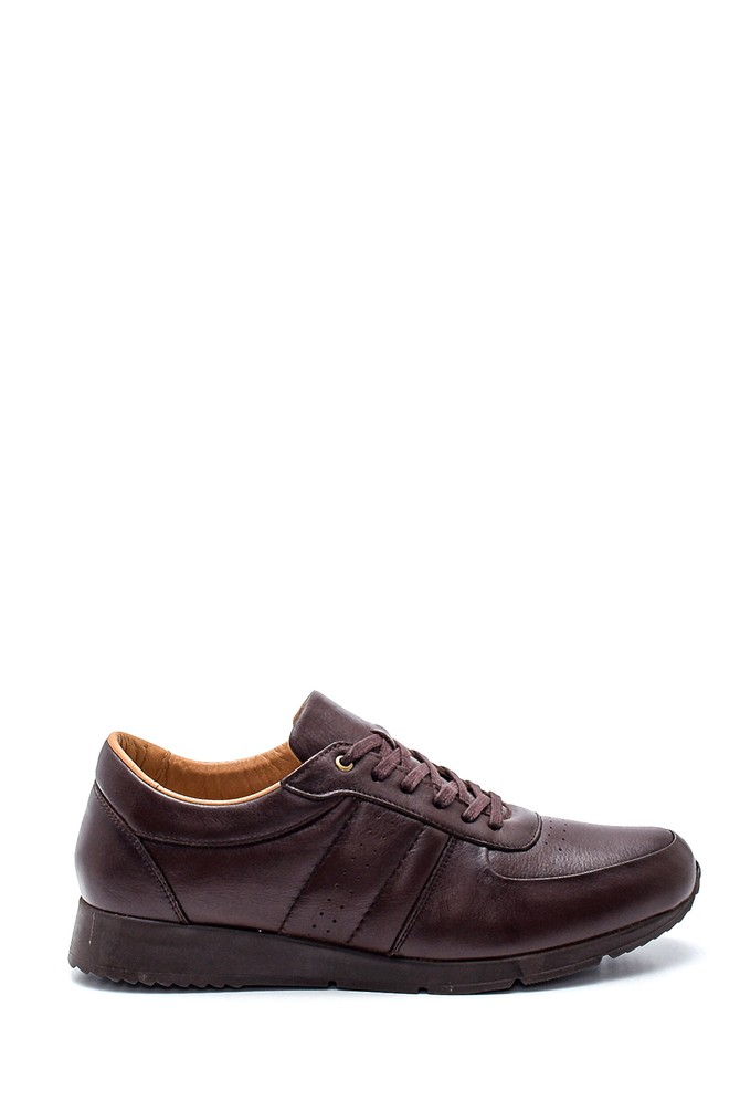 Kahverengi Erkek Deri Sneaker 5638309780