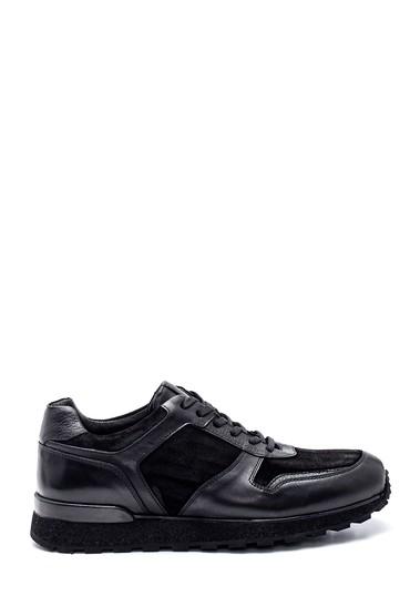 Siyah Erkek Deri Sneaker 5638331915