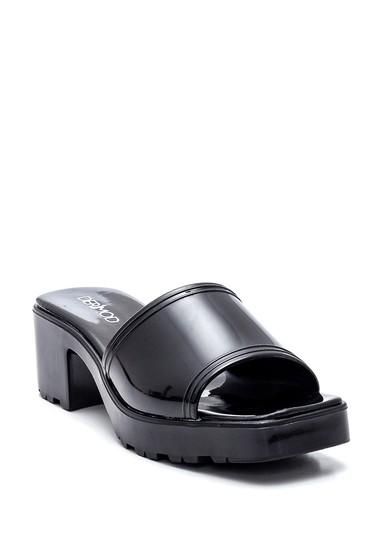 Siyah Kadın Topuklu Terlik 5638348461