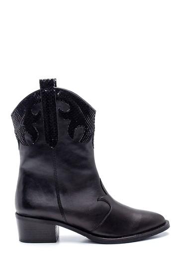 Siyah Kadın Topuklu Kovboy Bot 5638304222