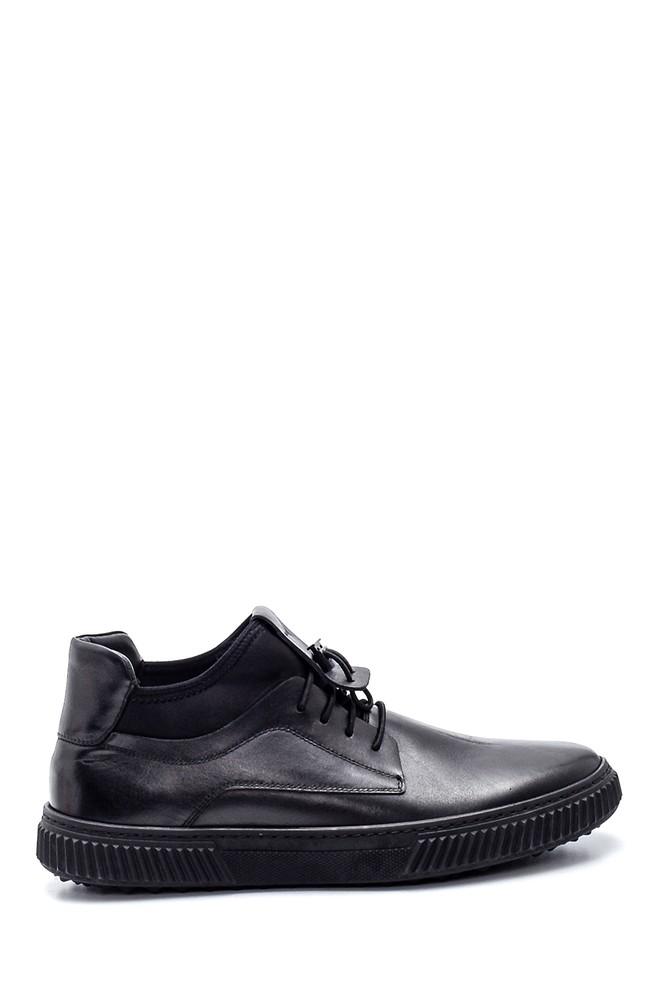 Siyah Erkek Deri Sneaker 5638314710