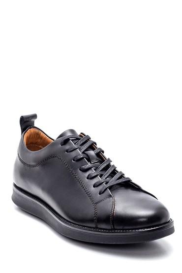 Siyah Erkek Deri Sneaker 5638317228
