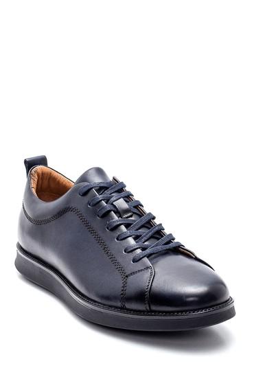 Lacivert Erkek Deri Sneaker 5638317227