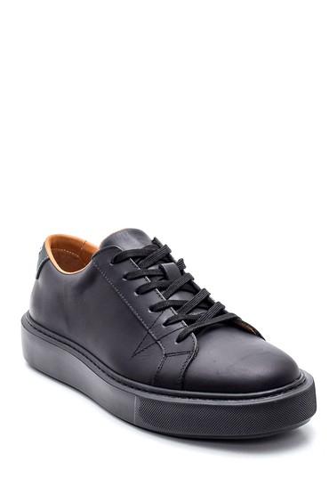 Siyah Erkek Deri Sneaker 5638317328