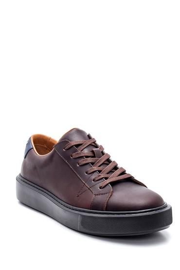 Kahverengi Erkek Deri Sneaker 5638317330