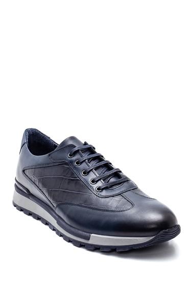 Lacivert Erkek Deri Sneaker 5638318305