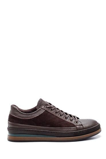 Kahverengi Erkek Deri Sneaker 5638318759