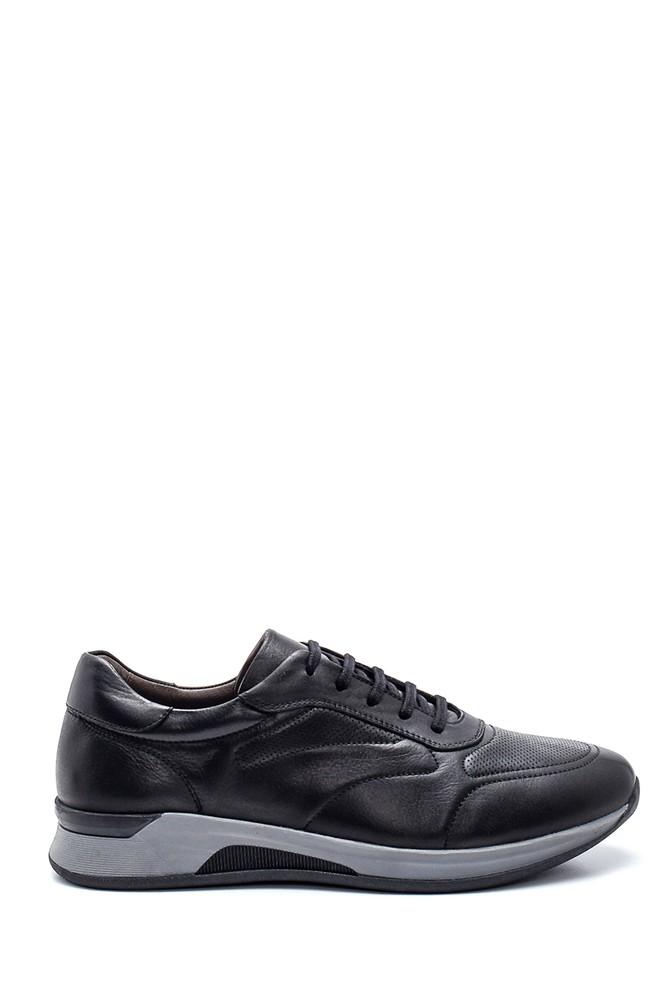 Siyah Erkek Deri Sneaker 5638323129