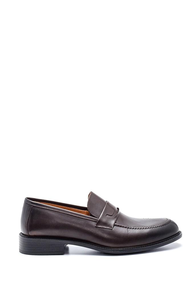 Kahverengi Erkek Deri Loafer Ayakkabı 5638327347