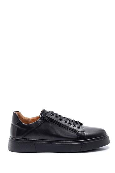 Siyah Erkek Deri Sneaker 5638327562