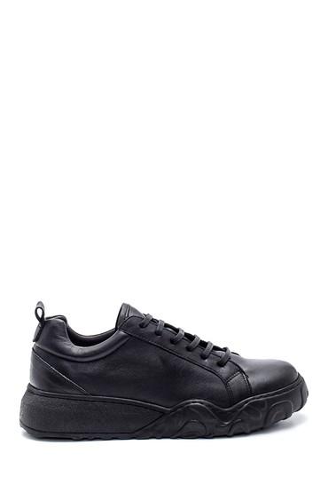 Siyah Kadın Deri Sneaker 5638334884