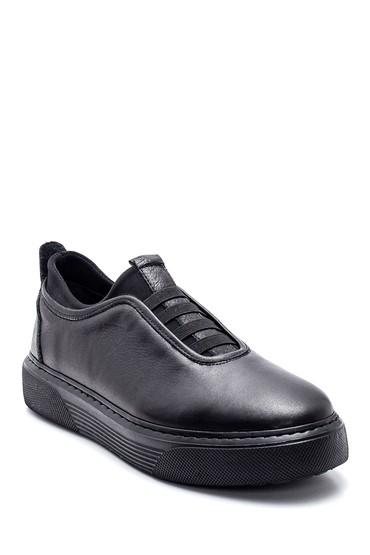 Siyah Erkek Deri Sneaker 5638336956