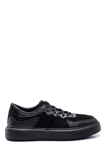 Siyah Erkek Deri Sneaker 5638336974