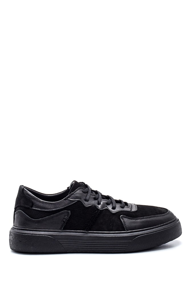 Siyah Erkek Deri Sneaker 5638336984