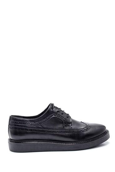 Siyah Kadın Deri Ayakkabı 5638331491