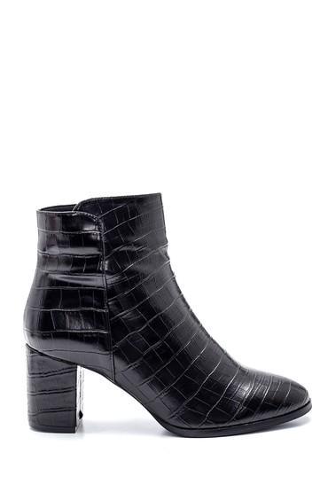 Siyah Kadın Deri Topuklu Bot 5638331691