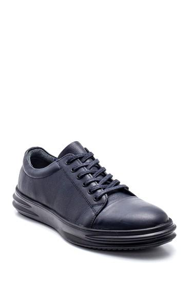 Lacivert Erkek Deri Sneaker 5638312163