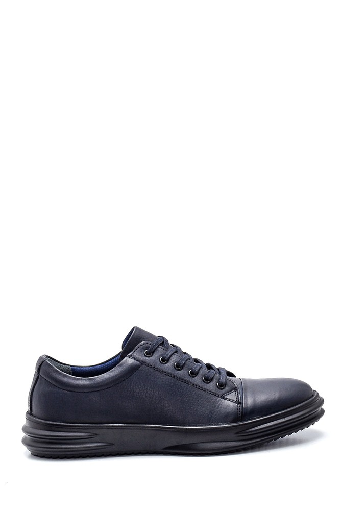 Lacivert Erkek Deri Sneaker 5638312191