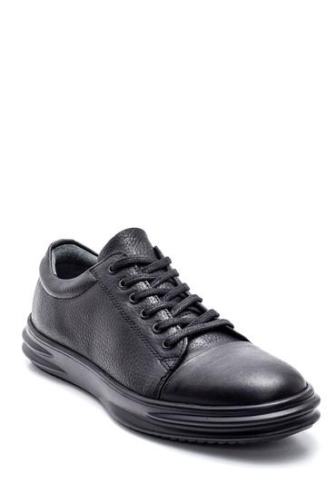 Siyah Erkek Deri Sneaker 5638312165