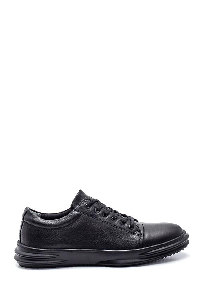 Siyah Erkek Deri Sneaker 5638312195