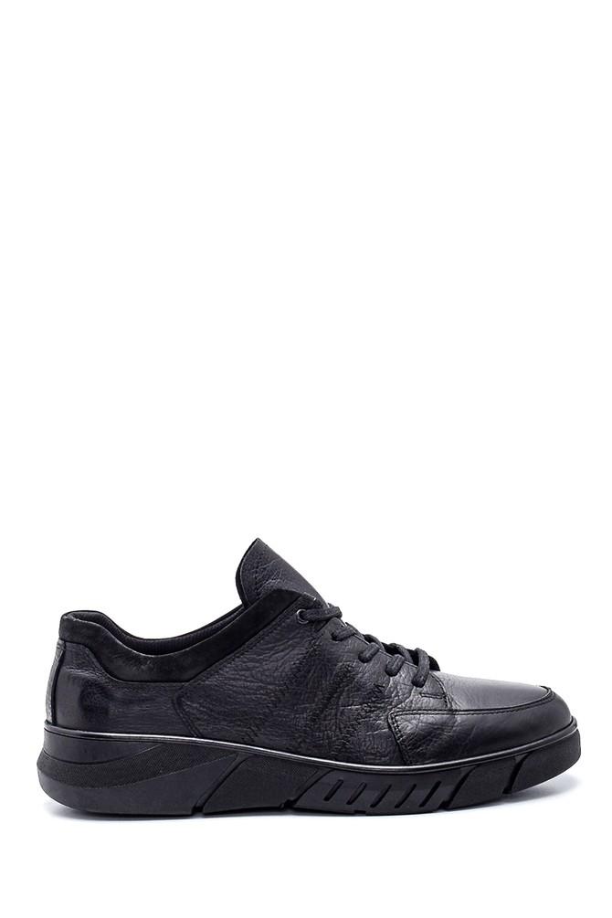 Siyah Erkek Deri Sneaker 5638313963