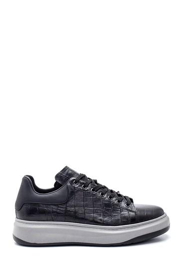 Siyah Erkek Deri Sneaker 5638317277
