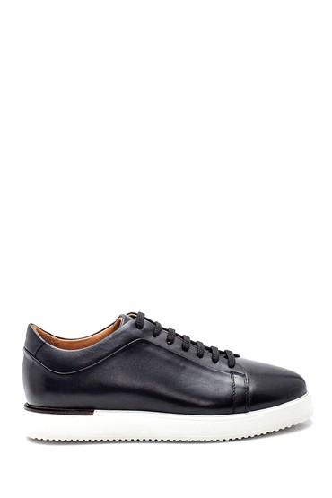 Siyah Erkek Deri Sneaker 5638318212