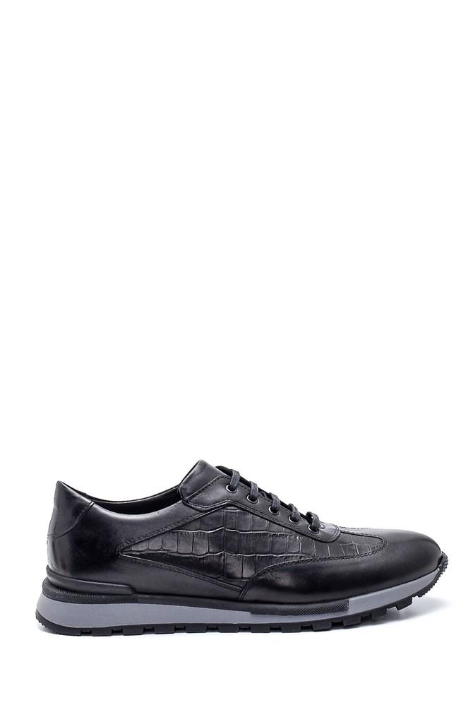 Siyah Erkek Deri Sneaker 5638318291