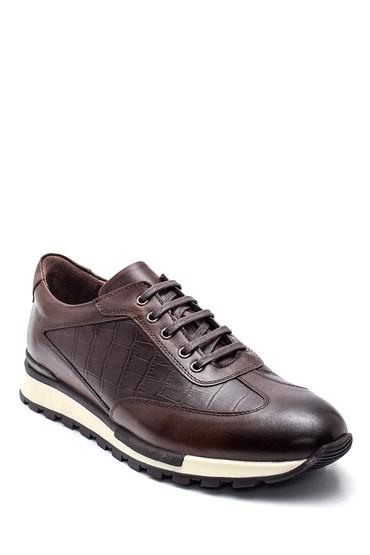 Kahverengi Erkek Deri Sneaker 5638318278