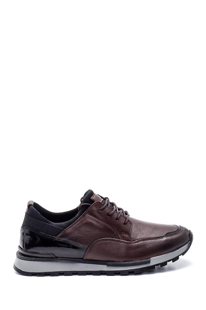Kahverengi Erkek Deri Sneaker 5638320941