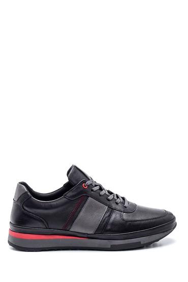 Siyah Erkek Deri Sneaker 5638320973