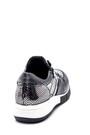 5638335811 Kadın Fermuar Detaylı Deri Sneaker